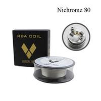 nichrome resistenz großhandel-Vapor Tech Nichrome 80 Draht Heizung Widerstand Spule 30Feet Spule AWG 22 24 26 28 30 32 Gauge für RDA Zerstäuber DHL Frei