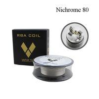 ingrosso calibratori-Vapor Tech Nichrome 80 Wire Resistenze di riscaldamento Bobina 30Feet Spool AWG 22 24 26 28 30 32 Calibro per atomizzatore RDA DHL Free