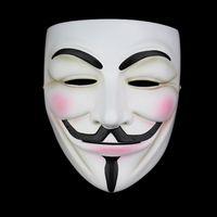 ingrosso resina maschera anonima-Alta qualità V per Vendetta Mask Resin Collect Home Decor Maschere per feste Lenti Cosplay Maschera anonima Guy Fawkes