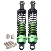 Wholesale Buggy Himoto Rc Car - RC Himoto M602 Green Alum Shock Absorber 60mm 2P For 1 18 E18XBL Elcetric Buggy