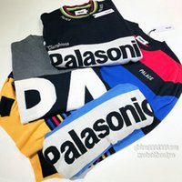 Wholesale Turtleneck Splicing - 2017 Palace Sweaters new Brand Hip Hop Street palace stripe splicing letters embroidery turtleneck sweaters men women