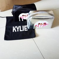 Sacchetti di Kylie Jenner Travel Cosmetics Borse Silver Color Zipper Limited Edition Holiday Collection Bag