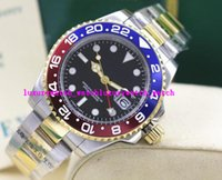 Wholesale Ii Tone - Luxury Wristwatch NEW II 2 TONE 116719 Red Blue Ceramic Bezel Blue Luminescent Dial Automatic Mens Watch Men's Watches Top Quality