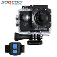 Wholesale electronic gyro resale online - SOOCOO C30R K Sports Camera Wifi Gyro NTK96660 M Waterproof Adjustable Viewing angles Action Camera with G remote