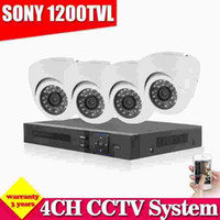 4CH CCTV Sistema 960H NVR HDMI 4PCS 1200TVL HD Dome Indoor DVR Sistema di sicurezza Home Security System Kit di sorveglianza