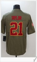 Washington New Salut au service # 21 Sean Taylor American College Football Cousu Broderie Chemises Hommes Sports Pro Team Jerseys Pas Cher