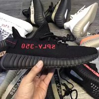 Wholesale mens west - Bred Sply 350 Kanye West Men 350 v2 Shoes New With BOX 350 Black White Gray orange Beluga Running Mens Sneaker Shoes