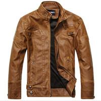 Wholesale leather jacket online - New arrive motorcycle leather jackets men men s leather jacket jaqueta de couro masculina mens leather jackets men coats H327