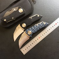 Wholesale bear claw knives resale online - Bear claw Parrot ball bearing folding knife D2 blade G10 steel Handle Hunting outdoor camping survive pocket fruit knives EDC tool