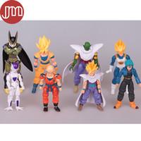 Wholesale Dbz Pcs - New 8 PCS Dragonball Z Dragon Ball DBZ Anime Super Saiyan Goku Son Gokou Trunks Chiao-tzu Piccolo Freeza Action Figure Model Toy