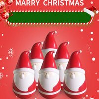 Wholesale Outdoor Lighted Santa - Bluetooth Speaker Santa Claus Tumbler Audio Smart Touch Sensing Lights Christmas Child Gift Roly-Poly KT08 Bluetooth Speaker
