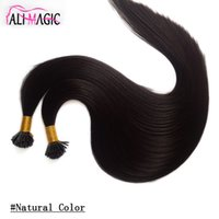 Wholesale Peruvian Hair I Tip - I Tip Human Hair Natural Black Color 20 22Inch Malaysian Straight Keratin Hair Extensions 100g Hair For Sale