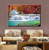Wholesale Wall Art Picture Red Trees and Two Fall Spray Painting on Canvas Unframed Landscape Print Living Room Home Decoration sizes