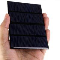 batería de energía solar 12v al por mayor-Universal 12V 1.5W estándar de epoxi paneles solares de silicio policristalino batería bricolaje módulo de carga de energía 115x85mm Mini célula solar