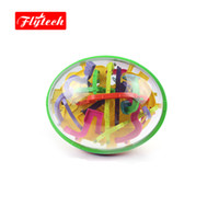 Wholesale Intellect Maze Ball - Wholesale- 299Steps 22.5x18cm Puzzle Ball Magic Intellect Marble IQ Game Perplexus Magnetic Maze Cube Educational Toys Kids Gift FT939