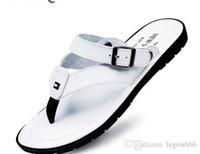 Wholesale Nice Flip - Flip Flops Men Sandals Summer Slippers Shoes For Casual Walking Seaside Beach Breathable Slides Mens Brand Designer Flats Nice G155