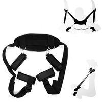 Wholesale Sex Kit Furniture - Adult Sex Furniture Neck Pillow Handcuffs Open Leg Bind Belts BDSM Slave Restraints Kit Sex Bondage Toys Adult Products