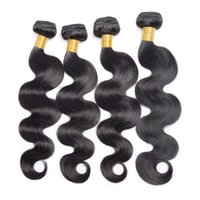 Wholesale Extention Human Virgin Hair - 100% Grade 7a Brazilian Body Wave Hair Extention Can Be Dyed Wholesale Brazilian Virgin Hair 4pcs Natural COLOR Remy Human Hair Weaves Soft