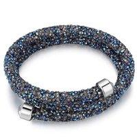 bracelets swarovski pour femme achat en gros de-Fait avec des cristaux de Swarovski Elements Bracelets Bangles marque pour femmes Soirée Party Accessoires Bijoux 24371