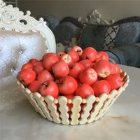 Wholesale Decoration Vegetable - 3CM Green Red Faux Mini Apple Artificial Fruits Vegetable Living Room Sample House Decoration Supplies 100pcs lot DEC267