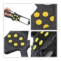 Climbing Gripper Studs Grampos de gelo Ice Snow Grips sobre sapato Boot Cover Traction Cleat Rubber Spikes Anti Easy Slip Ski Snow Hiking Escalada