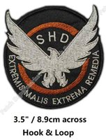 "Wholesale Patch Airsoft - 3.5"" The Division SHD EMBROIDERED Patches Landscape AIRSOFT Tactical Morale Patch Hook & Loop Badge TV Movie Series"
