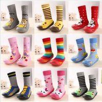 Wholesale Cartoon Girls Boots - Wholesale- 2016 Fashion Newborn Baby Boy Girl Socks Anti Slip Newborn Animal Cartoon Shoes Slippers Boots Soft Rubber Soled Outdoor Shoes