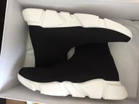 Wholesale Sneaker Socks Wholesale - Luxury Sock Shoes 2017 Men Women Fashion Sock Shoes Sneakers Speed Trainer Sock Race Runners black Shoes Round Toe Low Top Sneakers