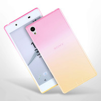 Wholesale Tpu Case For Sony M5 - Soft TPU Case For Sony M4 M5 Aqua Z5 Ultra Thin Colorful Gradient Clear Back Cover For Sony Xperia Z3 Compact Case Silicone