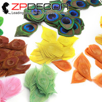 ZPDECOR 200pcs / lot 8-10cm (3-4inch) Handwork Trimmed Mix Color Peacock Перо Tail Eye Plumage для DIY Handmade