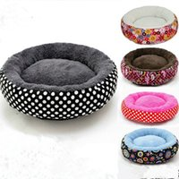 Wholesale 2017 New Candy Color Pet Nest Round Cat House Comfortable Pets House Pure Color Soft Puppy Beds Pets Home Dog Kennel