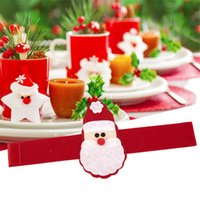 En gros- 4pcs / set Christmas Santa Claus Serville Serviettes Porte-serviettes XMAS Noël Party Dinner Table Décor Home Restaurant AY873677