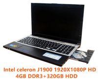 Wholesale Notebook Laptop Russian Keyboard - 1920X1080p 15.6inch 4GB RAM+320GB HDD J1900 Duad Core Laptop Computer with Russian Keyboard WIFI HDMI DVD-RW Windows7 8 Notebook
