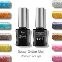 Wholesale Gel Unhas - Wholesale- 2016 2 pieces lot New MRO Super Glitter color Gel nail polish esmaltes permanentes de uv gel varnishes nail glue unhas de gel