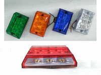 Wholesale 12v Led Bicycle Lights - Waterproof 12v 24v Car Truck Trailer Bicycle LED Side Marker Light Rainbow turn signal tail light cars led Brake Light