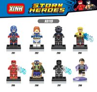 Wholesale Reverse Mix - 120pcs Mix Lot Super Heroes Minifig The Atom Ant-Man Flash Reverse-Flash Bane Bat Figure X0119 Mini Building Blocks Figures