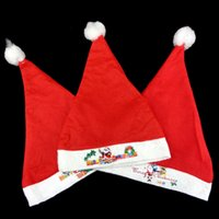 Wholesale Hat Decoration For Kids - Santa Snowman Reindeer Kids Christmas Hat Christmas Gifts For Children Mew Year Gift Adult Children Christmas Hat