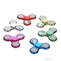 Wholesale New Led Rainbow Light - Cool coolest New led light changing fidget spinners toy auto change pattern 72 styles with rainbow light up hand spinner