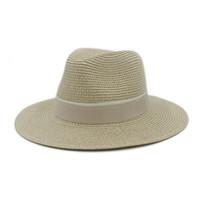 elegante sommerhüte großhandel-Großhandels- Art- und Weisefrauen-Sommer-Stroh Maison Michel Sonnenhut für elegante Dame im Freien breiter Rand-Strand-Vatihut Sunhat Panama Fedora-Hut