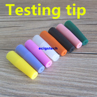 Wholesale Disposable Test E Cig - Colorful Individually packing Silicone Test Drip Tips Disposable Mouthpiece Cover Silicon testing caps rubber long for Subtank Mini e cig