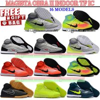 Wholesale High Ankle Boots For Men - New Update Magista Indoor Shoes Mens High Ankle Football Boots TF Magista Obra II IC Soccer Cleats Turf Soccer Shoes For Indoor Magistax