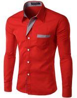 Wholesale Slim Fit Designer Shirts Sale - Wholesale- 2015 Hot sale! Free shipping New Designer Fashion Luxury Slim Fit Dress Men's Shirts 8012 M-4XL