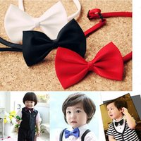 Wholesale Wholesale Butterfly Bowties - 2017 Wedding Party Tuxedo Marriage Butterfly Cravat New baby boys Bright Color Bow Tie Adjustable children Bowties For Gifts F036