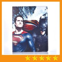 Estrella de dibujos animados Superman Batman Guerra Patrones Tablet PU Funda de Cuero para ipad mini123 mini 4 234 Air 5 air2 6
