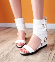 Wholesale Sexy Club Wedges - New Arrival Hot Sale Sexy Fashion Knight Star Leather Princess Noble Roman Belt Buckle Club Peep Toe Casual Increased Wedge Sandals EU34-39