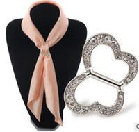 Wholesale Wholesale Butterfly Scarves - The new scarf buckle on the tall Peach heart butterfly elliptical chain scarves buckle scarf gift gift set auger