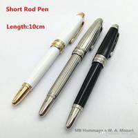 sevimli renkli kalemler toptan satış-En iyi kalem mağaza Yenilik tasarım Lüks renkli Kısa Çubuk Hommage bir W. A. Mozart Küçük Rulo Tükenmez Kalem Özel hediyeler sevimli Kalem