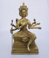 ingrosso sculture di arte del buddha-decorazioni natalizie per la casa + Collezione d'arte Tibet / Nepal Scultura / statua scolpita in Buddha in ottone decorato
