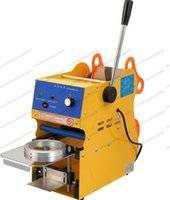 Wholesale Bubble Tea Cups - 2017 NEW Manual Cup sealing machine Bubble tea machine Digital display cup sealer 300-500cup H 220V 110V 95mm FREE SHIPPING MYY