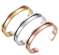 Wholesale Hair Band Charms - Novelty Zinc Alloy Rose Gold & Silver Hair Tie Bracelet For Women Cuff Bangle Hair ties bracelet Hair bands holder 10pcs Free Shipping